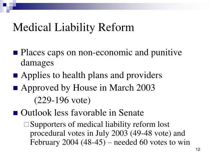 Medical Liability Reform