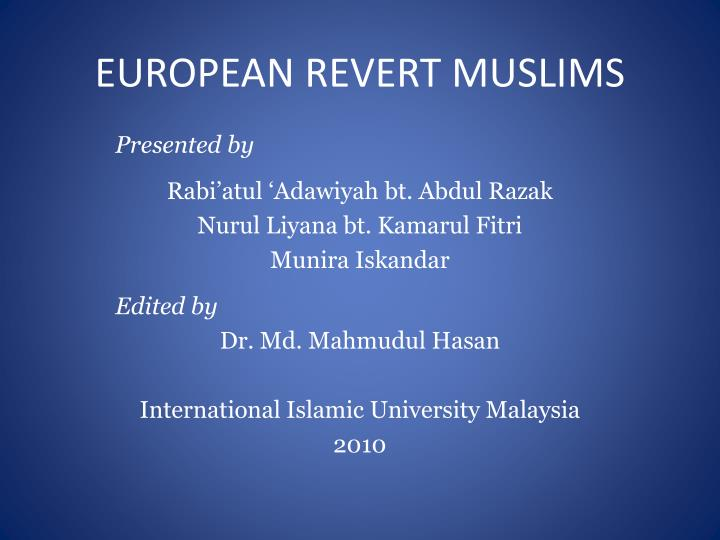 European revert muslims