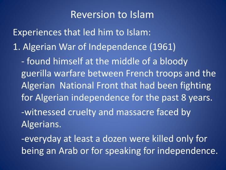 Reversion to Islam