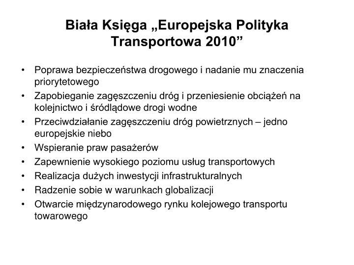 """Biała Księga """"Europejska Polityka Transportowa 2010"""""""
