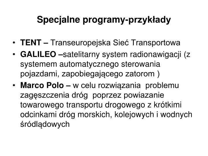 Specjalne programy-przykłady