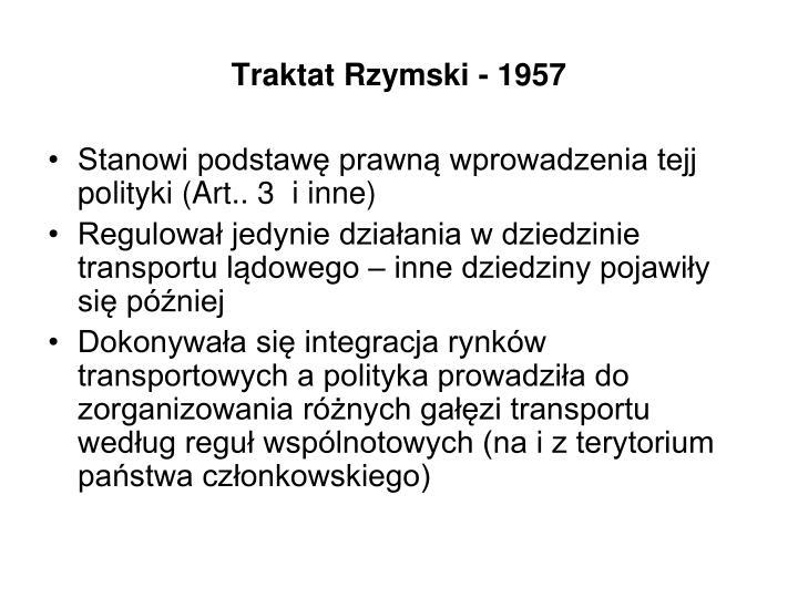 Traktat Rzymski - 1957