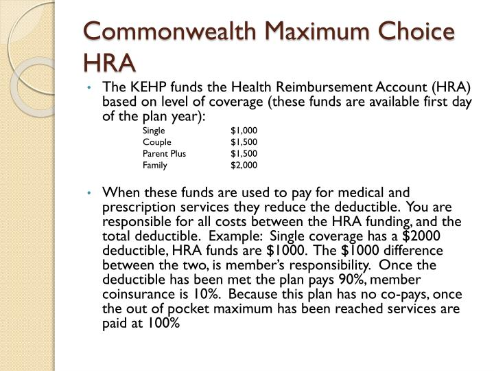 Commonwealth Maximum Choice HRA