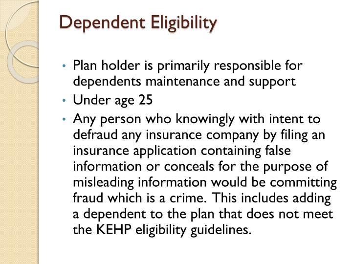 Dependent Eligibility