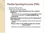 flexible spending accounts fsa