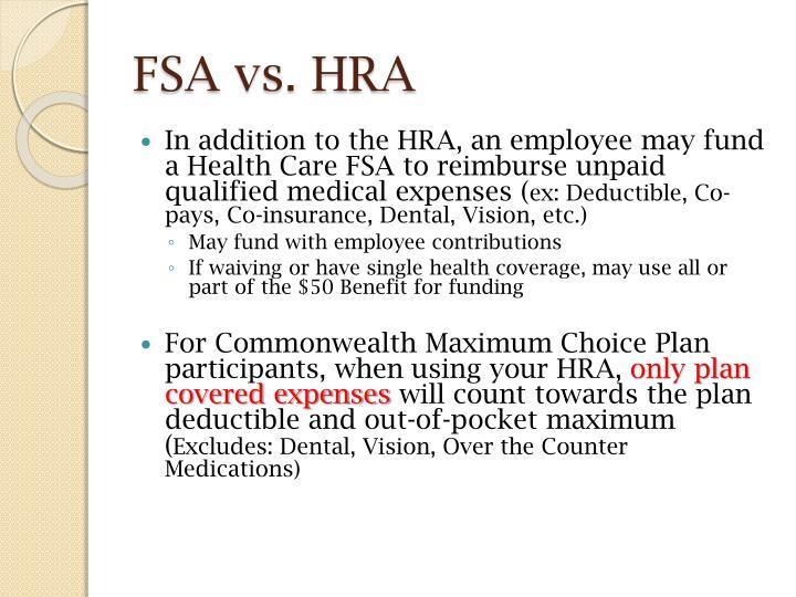 FSA vs. HRA