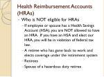 health reimbursement accounts hras