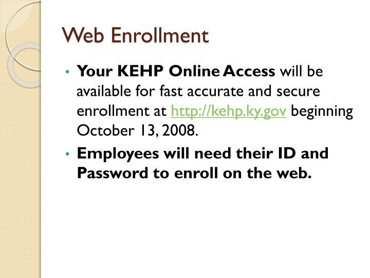 Web Enrollment