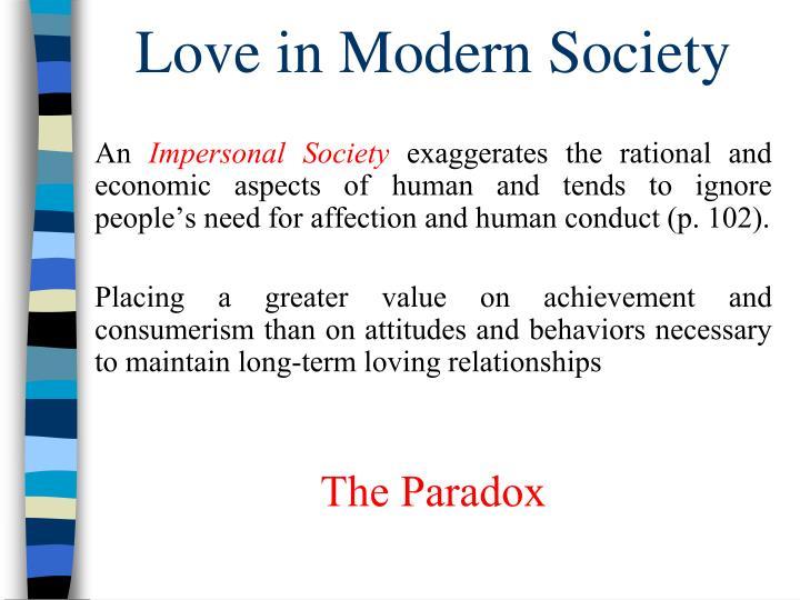 Love in Modern Society