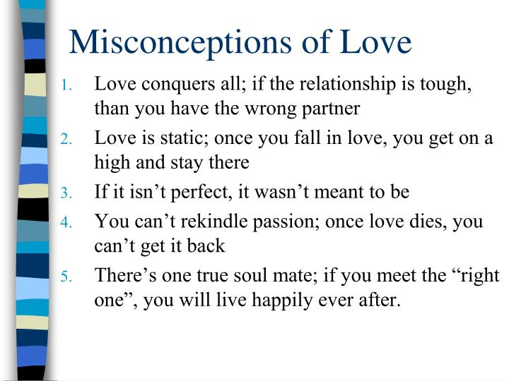 Misconceptions of Love