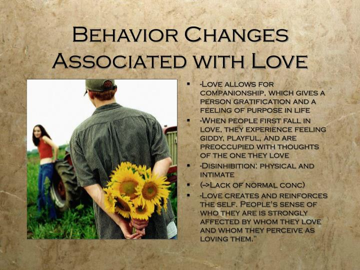 Behavior Changes Associated with Love
