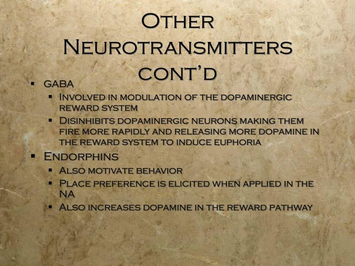 Other Neurotransmitters cont'd