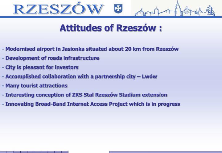 Attitudes of Rzeszów :