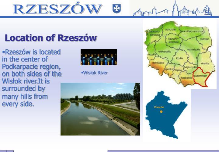 Location of Rzeszów