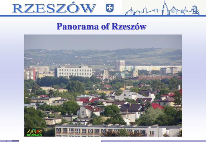 Panorama of Rzeszów