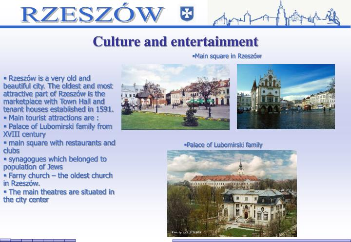 Culture and entertainment