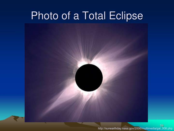Photo of a Total Eclipse