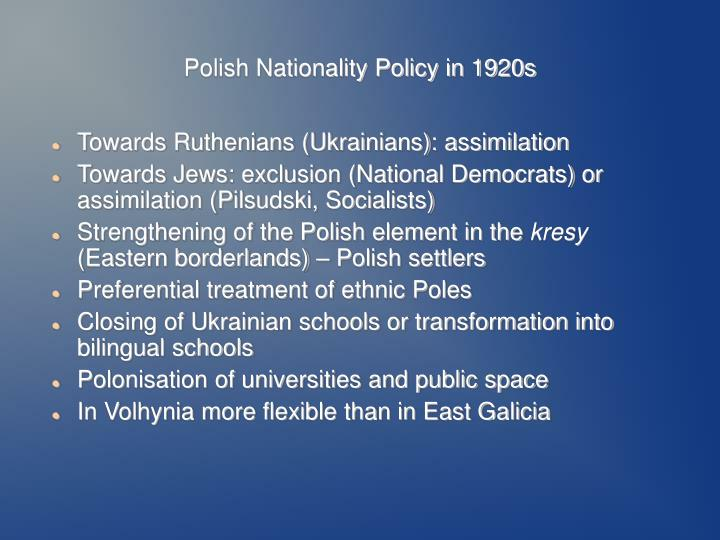 Polish Nationality Policy in 1920s