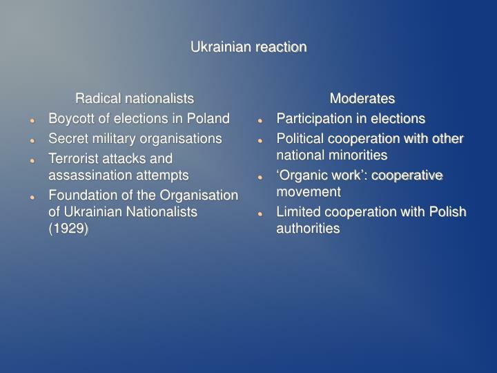 Ukrainian reaction