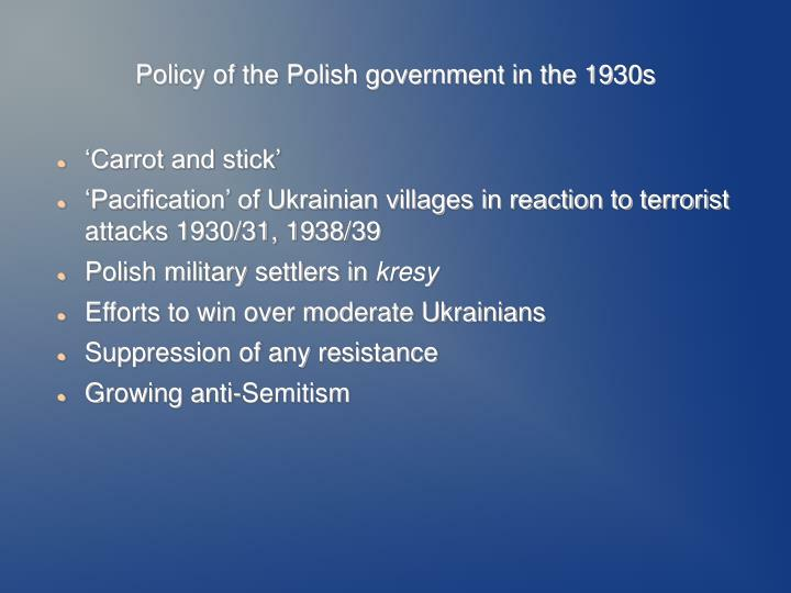 Policy of the Polish government in the 1930s