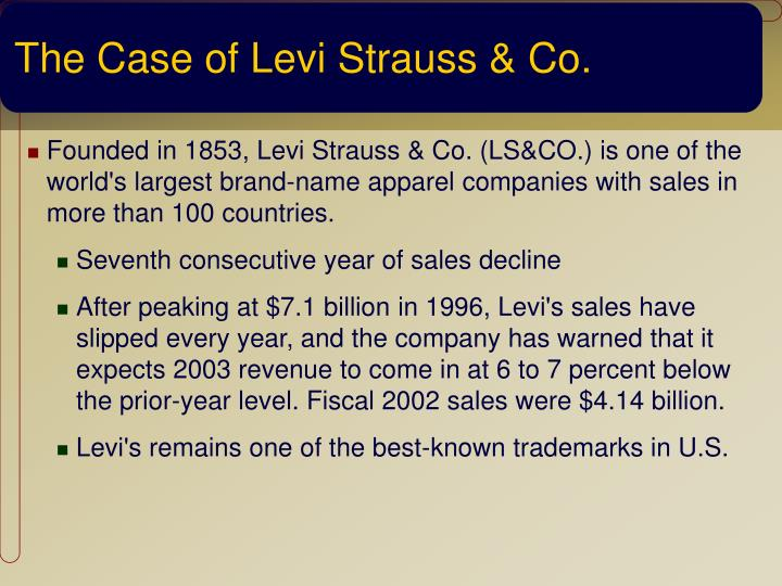 The Case of Levi Strauss & Co.