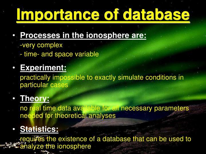 Importance of database