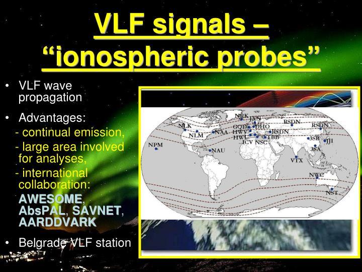 "VLF signals – ""ionospheric probes"""