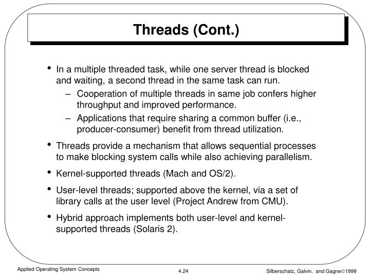 Threads (Cont.)