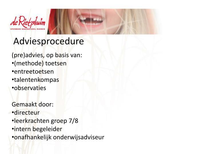 Adviesprocedure