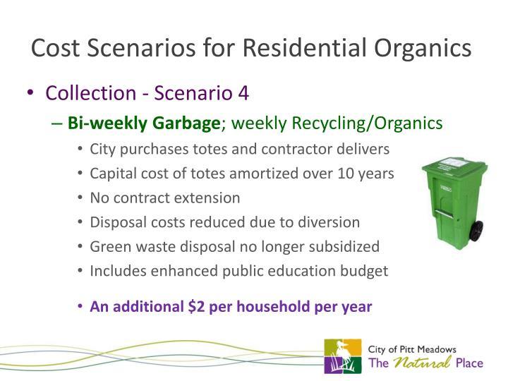Cost Scenarios for Residential Organics