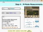 step 4 m mode measurements