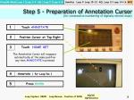 step 5 preparation of annotation cursor for consecutive numbering of digitally stored loops