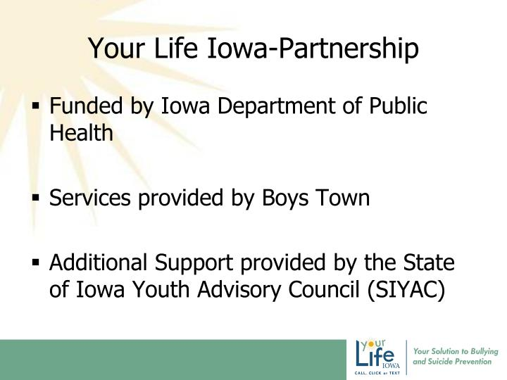 Your life iowa partnership