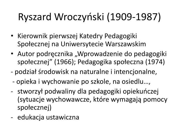 Ryszard Wroczyński (1909-1987)