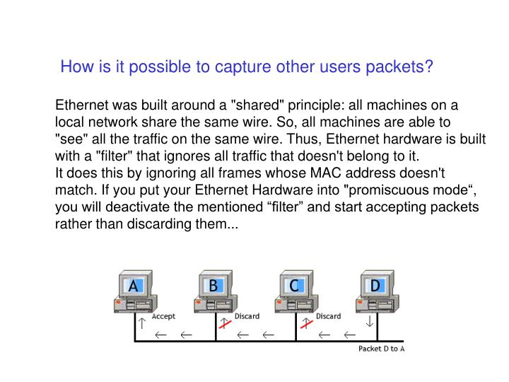 How is it possible to capture other users packets?