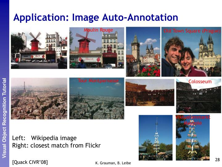 Application: Image Auto-Annotation