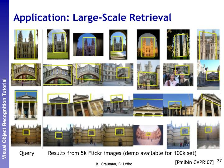 Application: Large-Scale Retrieval