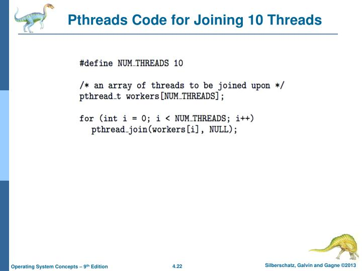 Pthreads Code for Joining 10 Threads