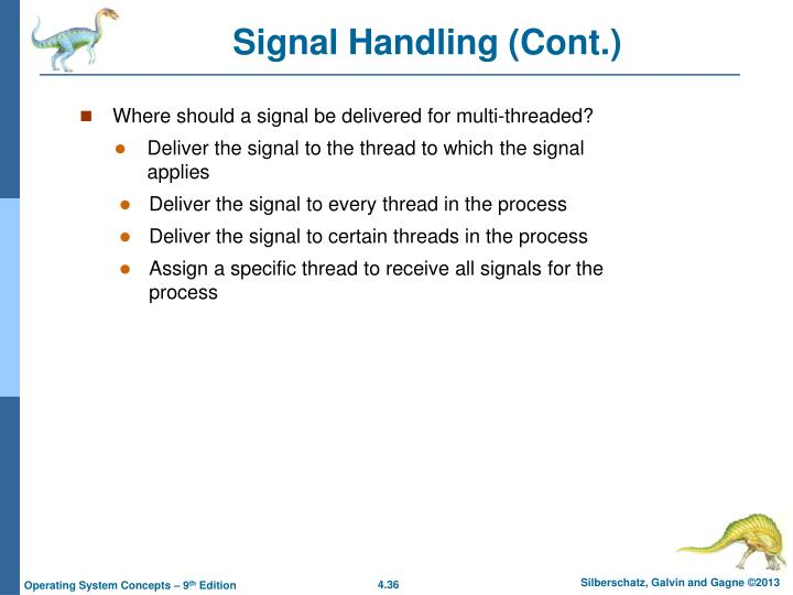 Signal Handling (Cont.)