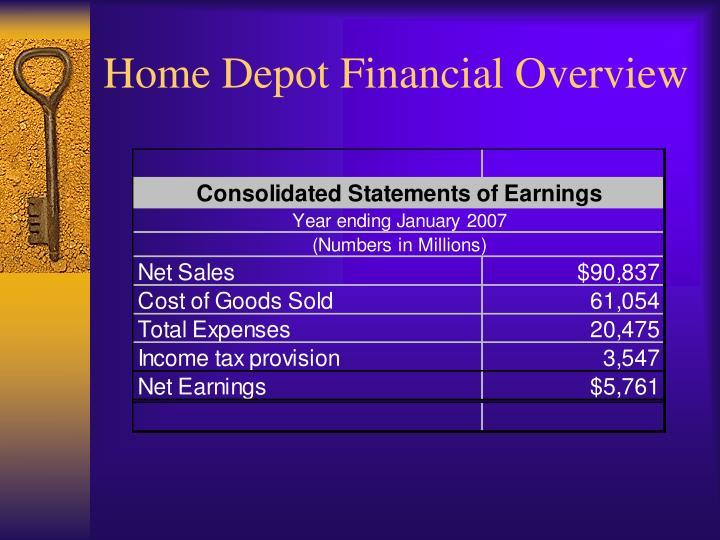 Home Depot Financial Overview