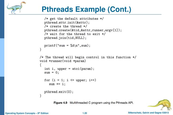 Pthreads Example (Cont.)
