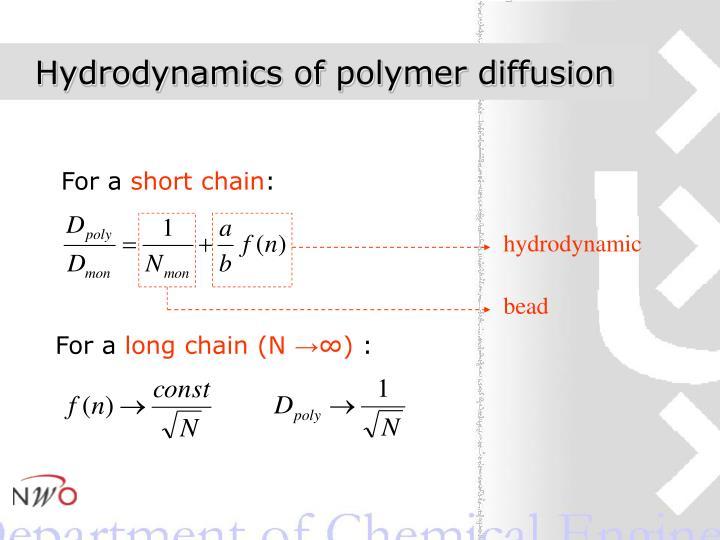 Hydrodynamics of polymer diffusion