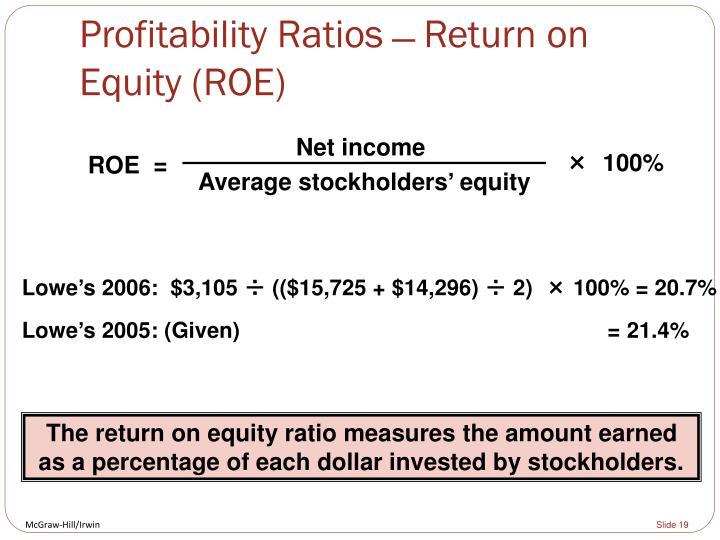Profitability Ratios