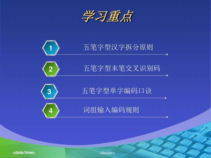五笔字型汉字拆分原则