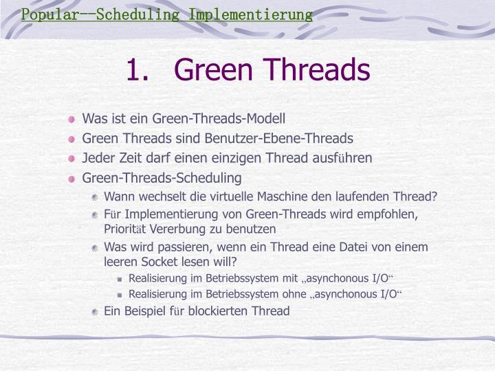 Was ist ein Green-Threads-Modell