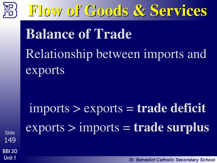 Flow of Goods & Services