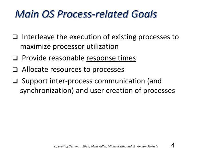 Main OS Process-related Goals