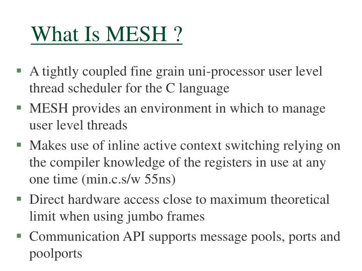 What Is MESH ?