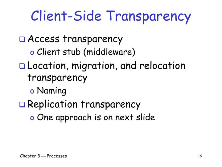 Client-Side Transparency