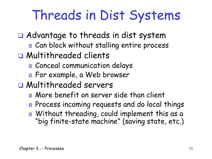Threads in Dist Systems